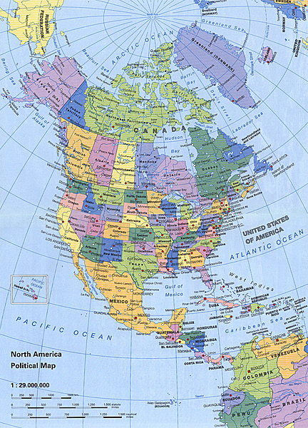 Atlas USA Canada Mexico - Us and canada political map