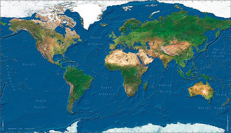 Pilots atlas satelite wall map image pilots atlas satelite wall map gumiabroncs Images
